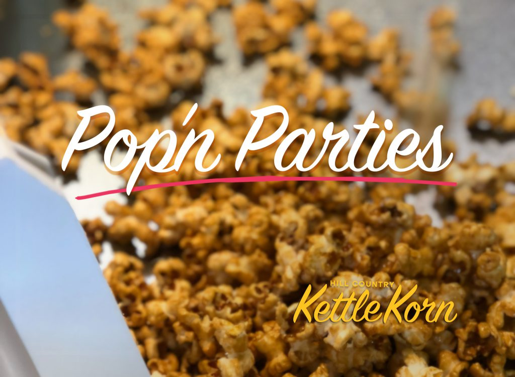 Kettle corn and popcorn catering and delivery. We bring the treats to you. Austin, Round Rock, Cedar Park, Georgetown, Leander, Texas.