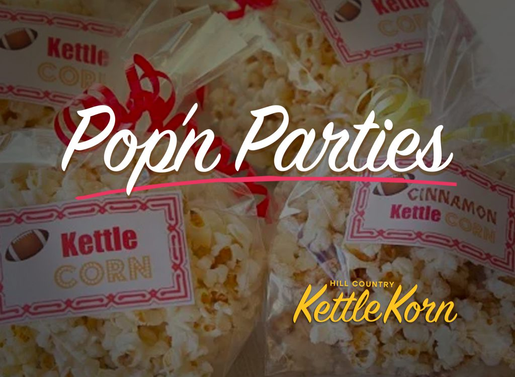 Kettle Corn and Popcorn delivery and catering Austin, Cedar Park, Leander, Georgetown, Round Rock, Texas.